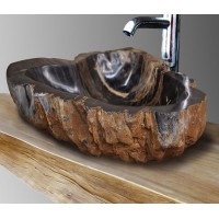 Carved Naturally Petrified Wood Sink